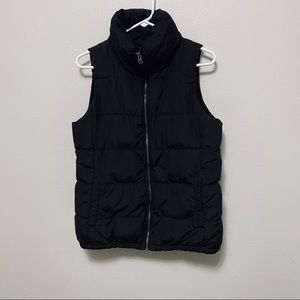 Old Navy Down Fleece Puffer Vest Black